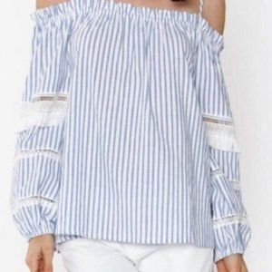 Sugar & Lips off the shoulder peasant top XS